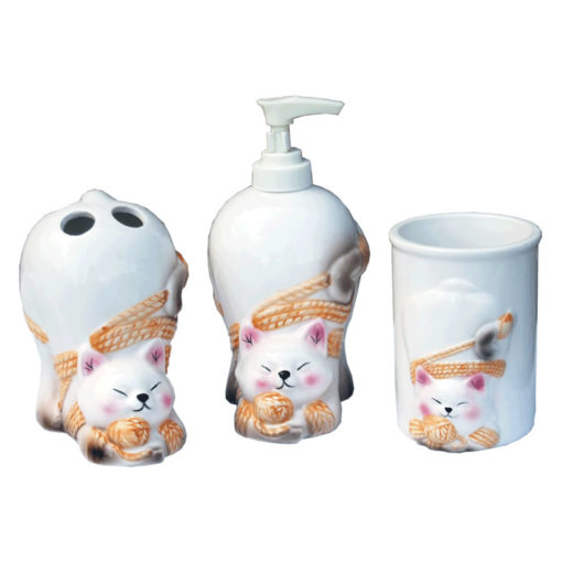 cat bath set 3pcs