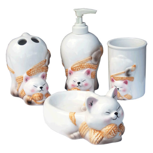 cat bath set