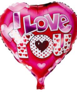 foil ballon I love you heart shaped