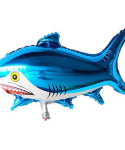 foil balloon blue shark