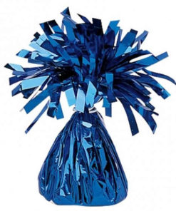 foil balloon weights blue