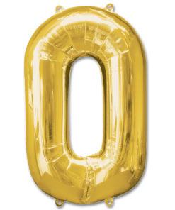 jumbo foil balloon gold letter 0