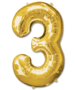 jumbo foil balloon gold letter 3
