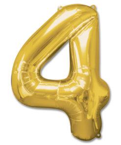 jumbo foil balloon gold letter 4