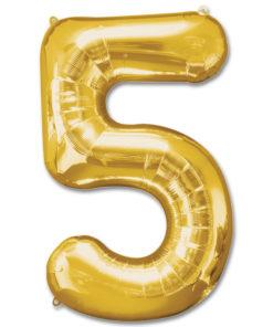 jumbo foil balloon gold letter 5