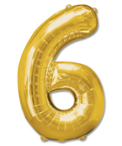 jumbo foil balloon gold letter 6