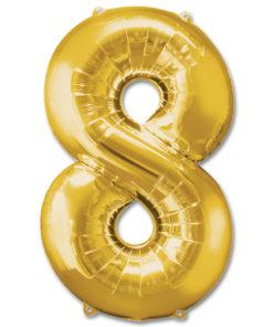 jumbo foil balloon gold letter 8