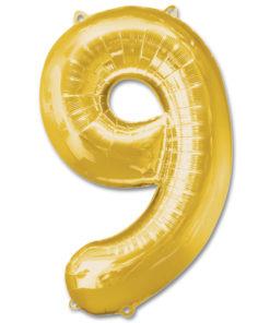 jumbo foil balloon gold letter 9 1