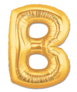 jumbo foil balloon gold letter b