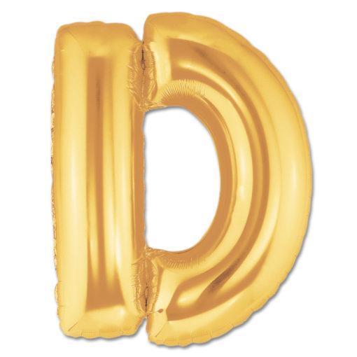 jumbo foil balloon gold letter d
