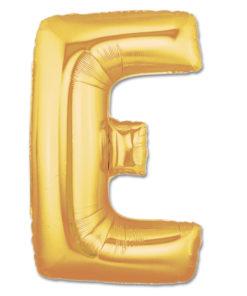 jumbo foil balloon gold letter e