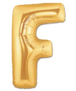 jumbo foil balloon gold letter f