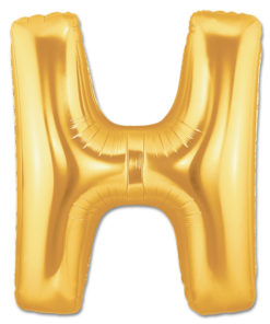 jumbo foil balloon gold letter h