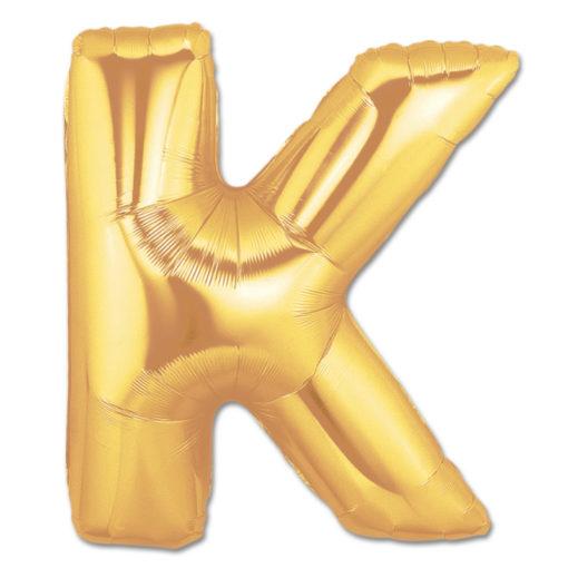 jumbo foil balloon gold letter k
