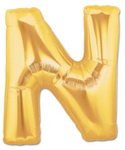 jumbo foil balloon gold letter n