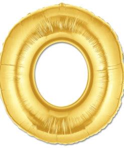 jumbo foil balloon gold letter o