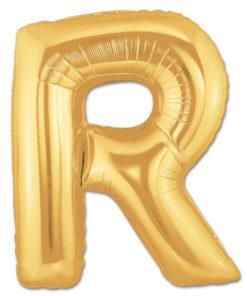 jumbo foil balloon gold letter r