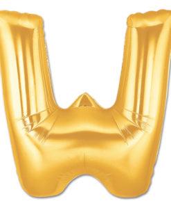 jumbo foil balloon gold letter w
