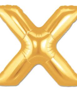 jumbo foil balloon gold letter x