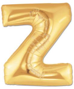 jumbo foil balloon gold letter z