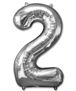 jumbo foil balloon silver letter 2