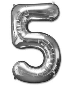 jumbo foil balloon silver letter 5