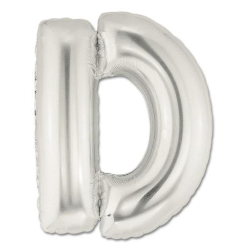 jumbo foil balloon silver letter d