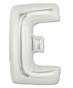 jumbo foil balloon silver letter e