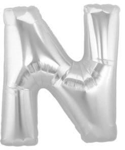 jumbo foil balloon silver letter n