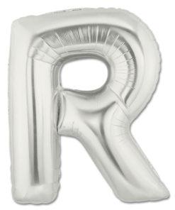 jumbo foil balloon silver letter r