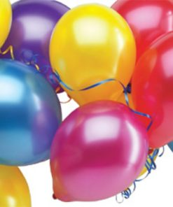 metallic balloons assorted 100 pack