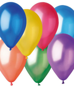 metallic balloons assorted 50 pack