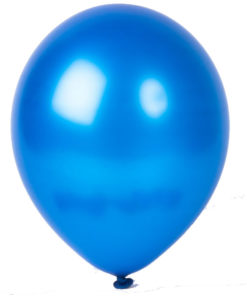 metallic balloons blue
