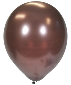 metallic balloons brown