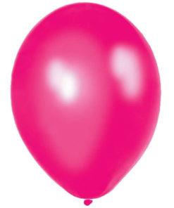 metallic balloons fuchsia