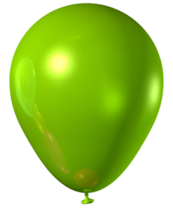 metallic balloons green