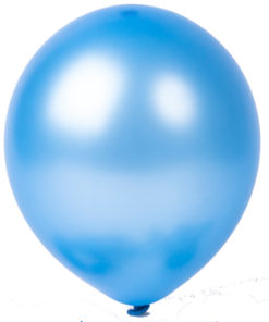 metallic balloons pale blue
