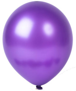 metallic balloons purple