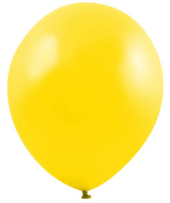metallic balloons yellow