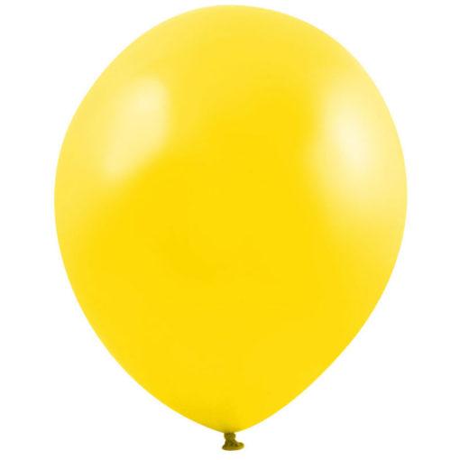 metallic balloons yellow