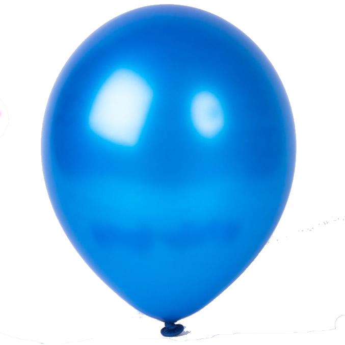 metallic balloons blue